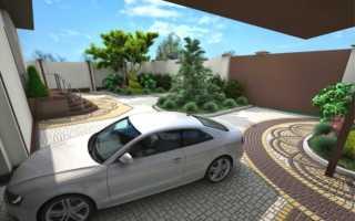 Укладка тротуарной плитки под автомобиль