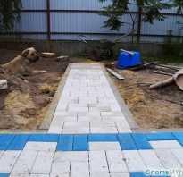 Укладка бетонной плитки видео