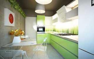 Маленькая прямоугольная кухня