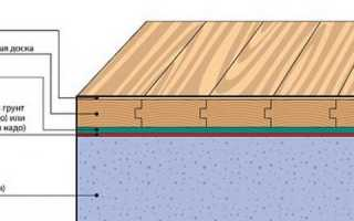 Укладка половой доски на бетонный пол