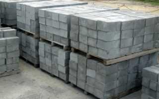 Бетонные блоки для фундамента 20х20х40 вес