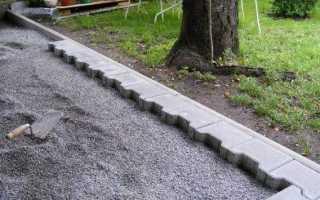 Как укладывать тротуарную плитку на отсев