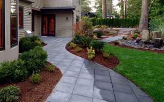 Брусчатка дизайн двора частного дома