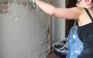 Как выровнять стены цементом