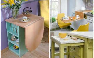 Столешница вместо стола на кухне