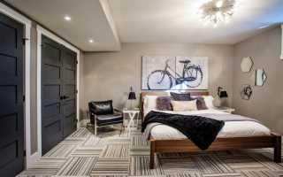 Спальня в цокольном этаже