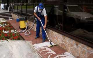 Как очистить брусчатку от цемента