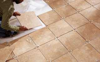 Укладка плитки на бетонный пол технология