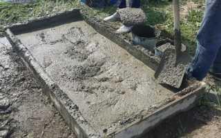 Пропорции бетона для фундамента в лопатах