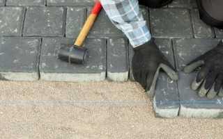 Какой песок нужен для укладки тротуарной плитки