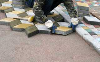 Укладка тротуарной плитки особенности