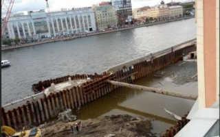 Укладка бетона в воду