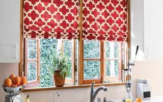 Интересные шторы на кухню