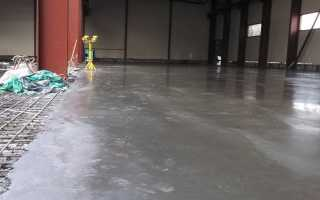 Покрытие бетонной стяжки