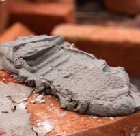 Как замесить цемент вручную
