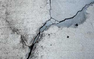 Как заклеить трещину в бетонной плите