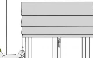 Шторы на балкон на липучках