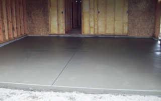 Цементная стяжка в гараже
