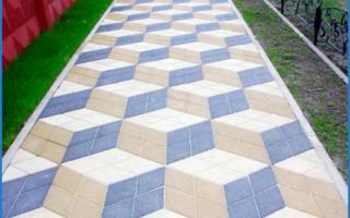 Виды тротуарных плиток