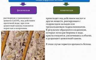Коррозия цементного камня и способы защиты