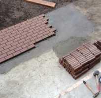 Уложить тротуарную плитку на бетонное основание