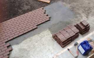 Как укладывать бетонную плитку