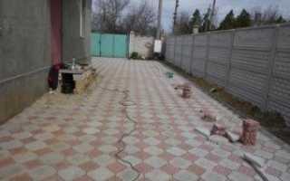 Как правильно положить тротуарную плитку во дворе