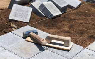 Как правильно укладывать тротуарную плитку на песок