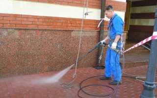 Как удалить цемент с брусчатки