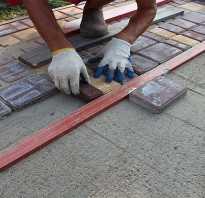 Укладка тротуарной плитки на песок без цемента