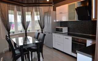 Однотонные шторы на кухню