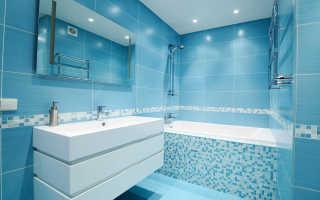 Варианты оформления ванной комнаты плиткой