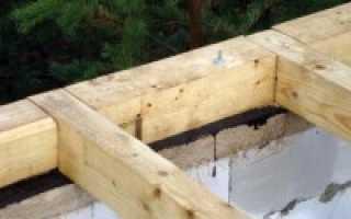 Как крепить брус к фундаменту из бетона