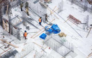 Укладка бетона при низких температурах