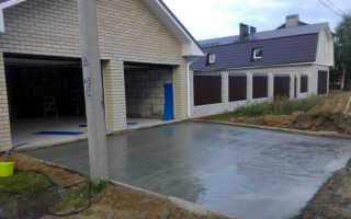 Укладка бетона на песок