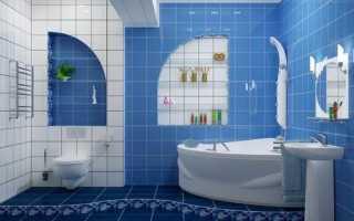 Какую плитку класть на пол в ванной