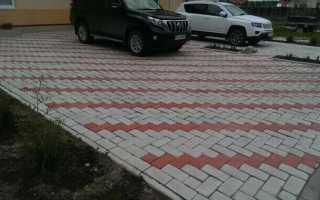 Укладка тротуарной плитки под грузовой автомобиль