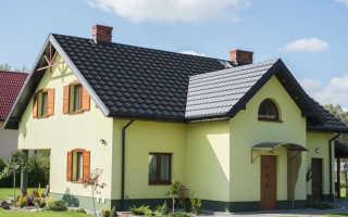 Фасад дома с серой крышей фото