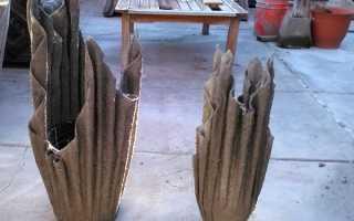 Вазы из цементного раствора