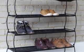 Открытые полки для обуви в прихожую