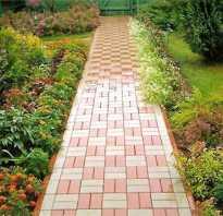 Укладка садовой плитки