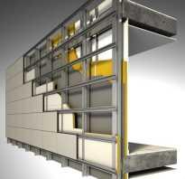 Устройство навесного фасада