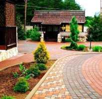 Технология укладки тротуарной плитки во дворе частного