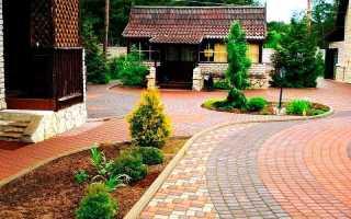 Тротуарная плитка во дворе частного дома