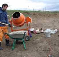 Как замешивать раствор в бетономешалке