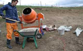 Соотношения бетона для фундамента