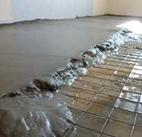 Армированная бетонная стяжка