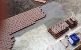 Тротуарная плитка по бетонному основанию технология