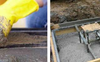 Пропорции раствора бетона для заливки фундамента