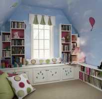 Детская комната с мансардой